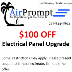 $100 off electrical panel